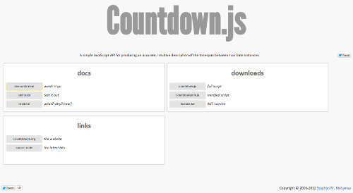 countdown.js javascript library