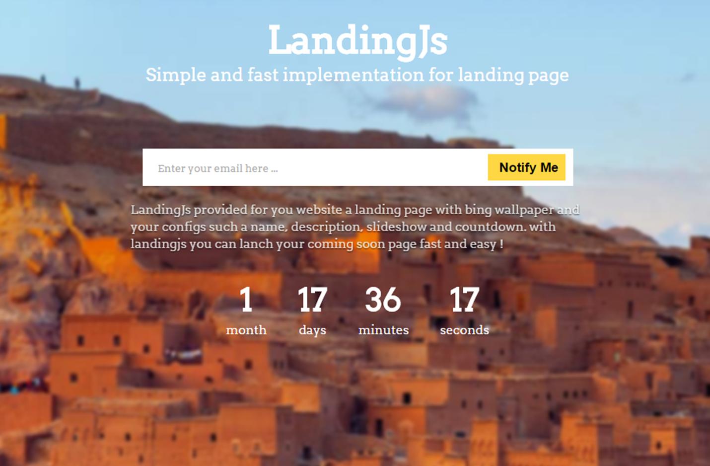 Landing.js javascript library