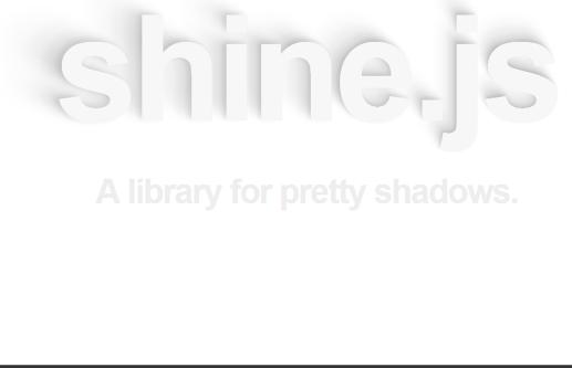 shine.js javascript library