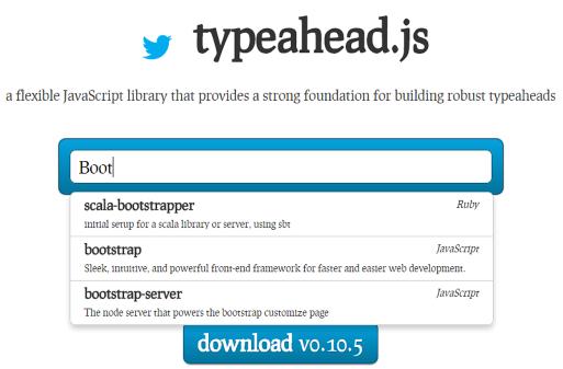Typeahead javascript library