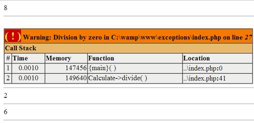 הודעת שגיאה של PHP לדוגמה