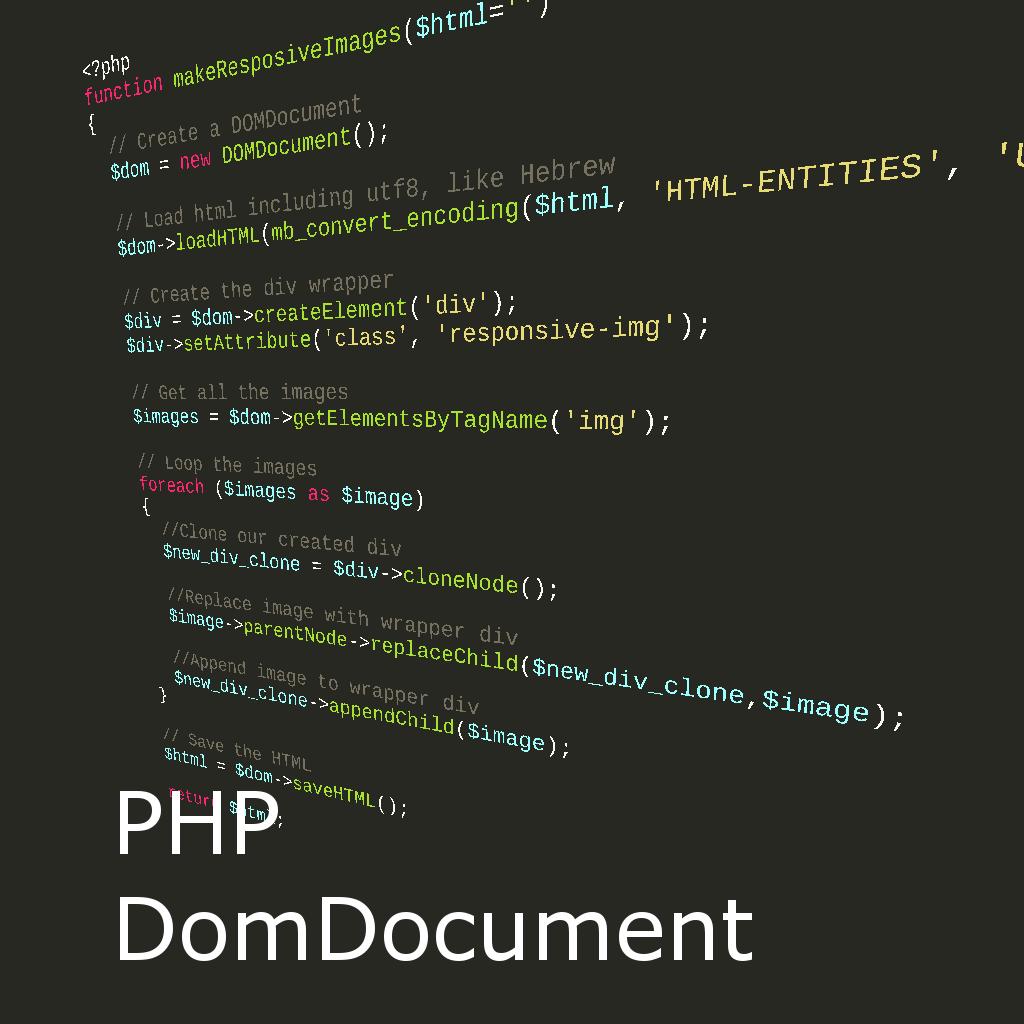 עיבוד HTML באמצעות ספריית DomDocument של PHP