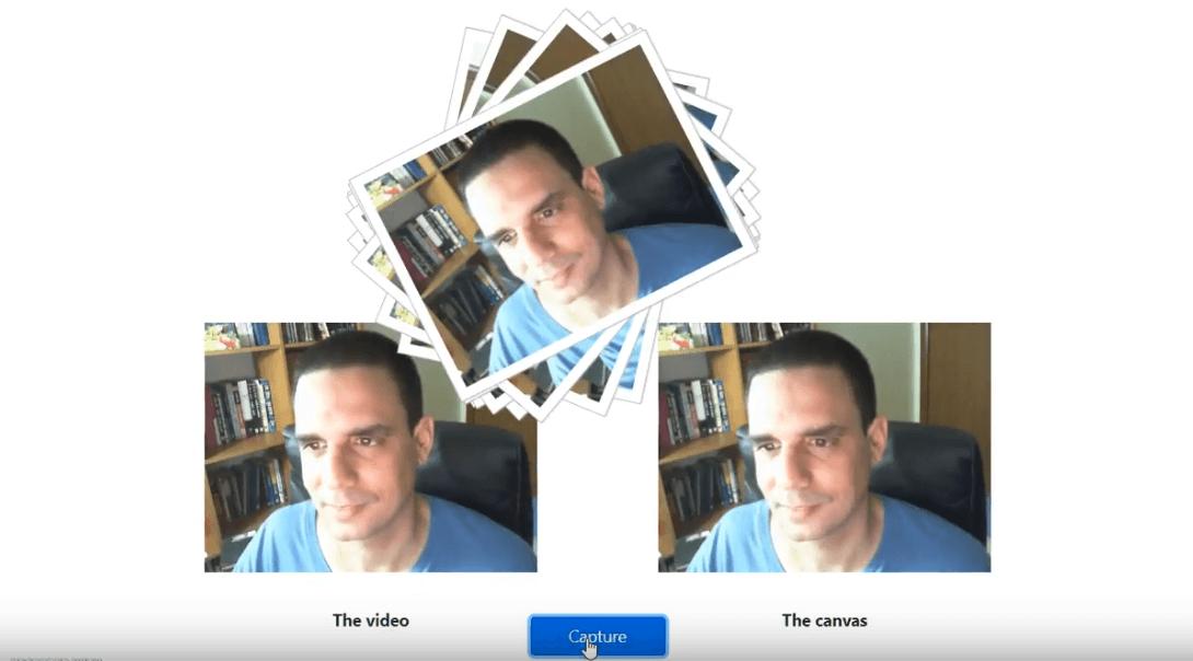 מדריך אפליקציית web לצילום ושמירת תמונות