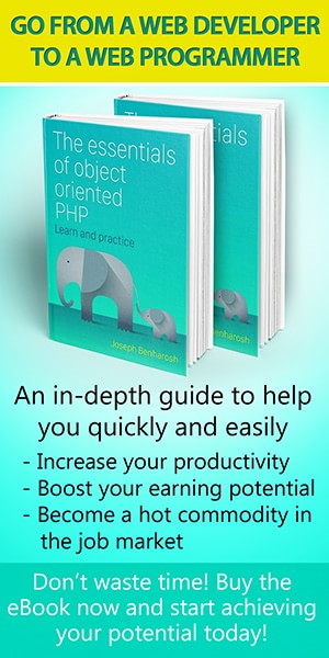 book cover The essential of object oriented PHP